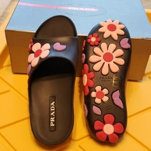 Prada Women Pool Slide